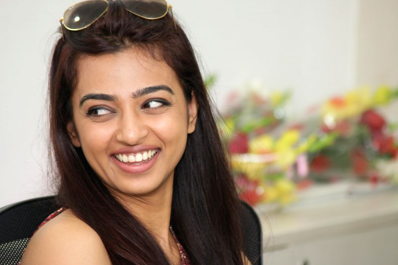 Actress Radhika Apte during an interview at IANS office in New Delhi on March 16, 2015.