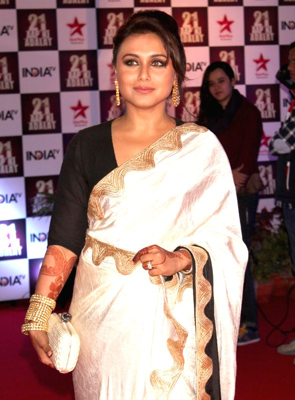 Actress Rani Mukherjee during a programme organised to celebrate 21 years of a `Aap Ki Adalat` a TV show at Pragati Maidan in New Delhi on Dec 2, 2014. - Rani Mukherjee