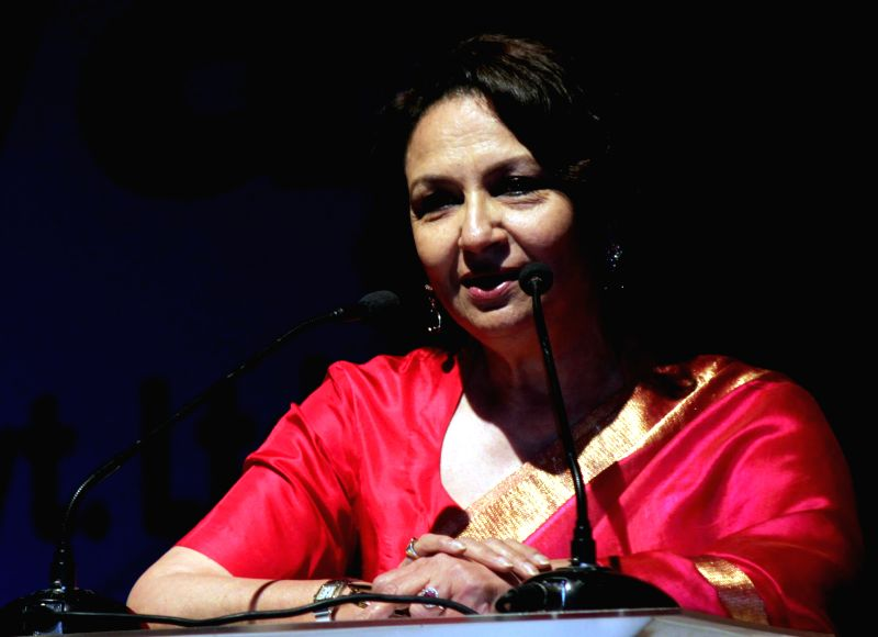 Actress Sharmila Tagore during a programme `Gloria in Excelsis 2014` organised by Mar Thoma Syrian Church of Malabar of Delhi at Jawaharlal Nehru Stadium in New Delhi on Dec. 13, 2014.