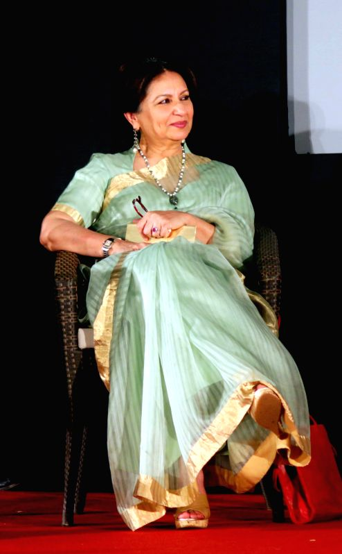 Actress Sharmila Tagore during a programme at the German Embassy in New Delhi on April 24, 2015.