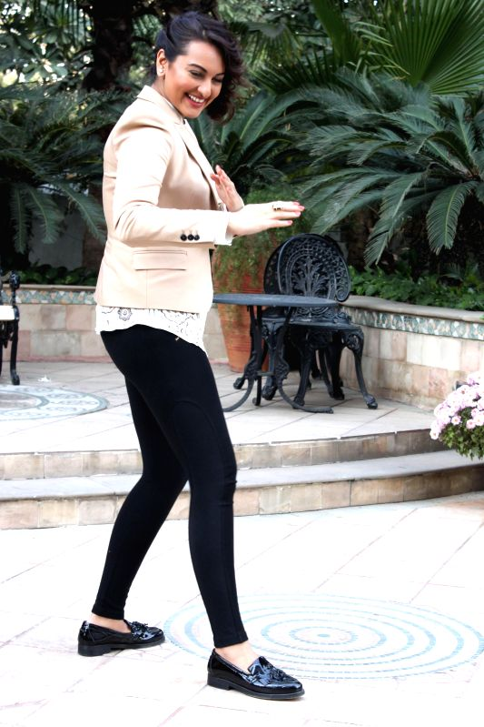 Actress Sonakshi Sinha during a press conference to promote her upcoming film `Action Jackson` in New Delhi, on Dec 3, 2014.