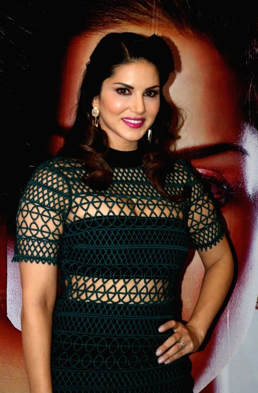 """:New Delhi: Actress Sunny Leone during a press conference regarding their upcoming film """"One Night Stand"""" in New Delhi, on April 27, 2016. (Photo: IANS)."""