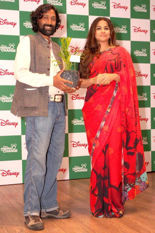 Actress Vidya Balan during `Friends For Change` - an innovative inter-school volunteering program in New Delhi on Feb 25, 2015.