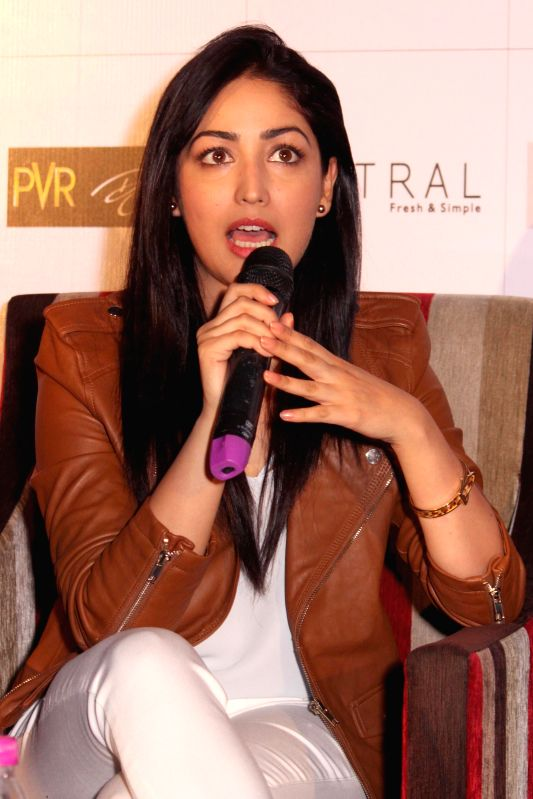 Actress Yami Gautam during a press conference to promote her upcoming film `Badlapura` in New Delhi on Feb 17,2015. - Yami Gautam