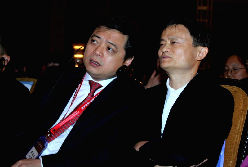Alibaba founder Jack Ma during Zhejiang China-India business cooperation conference organised by FICCI in New Delhi, on Nov 26, 2014.