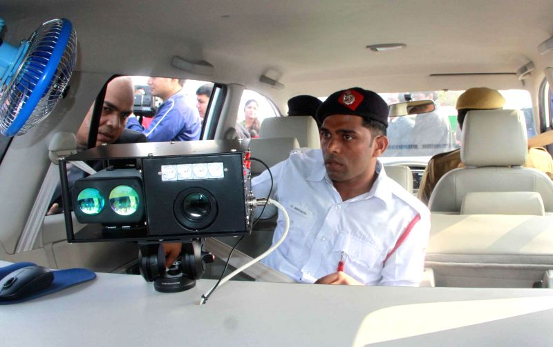 An inside view of Delhi Police's newly launched interceptor vehicles in New Delhi on on Dec 17, 2014.
