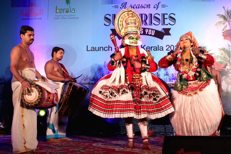 Artist perform at the launch of  `The Visit Kerala Initiative` of Kerala Tourism  in New Delhi on April 9, 2015.