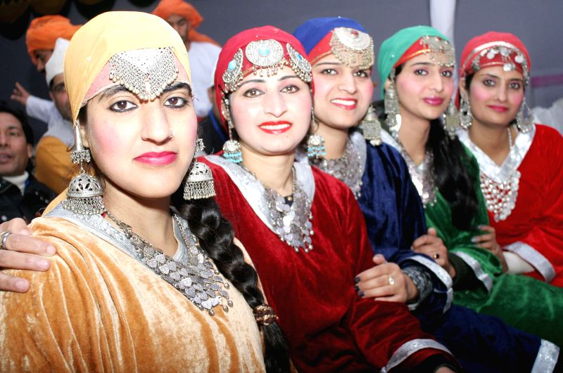 Artists during press preview of Republic Day Parade- 2015 in New Delhi, on Jan 22, 2015.