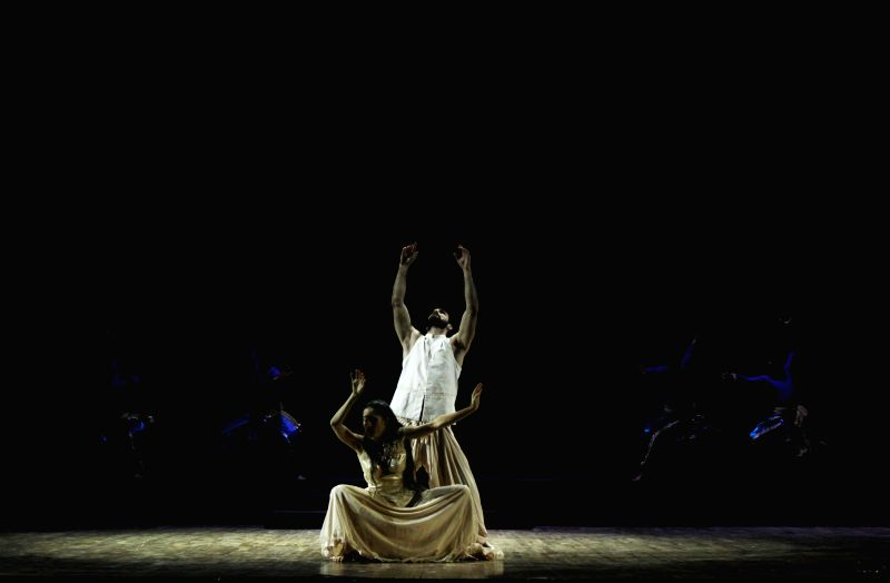 Artists perform during International Ancient Arts Festival at Siri Fort Auditorium in New Delhi, on Dec 4, 2014.