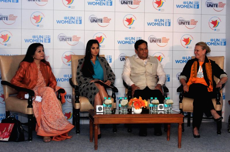 Assistant Secretary-General of the United Nations Lakshmi Puri, ​Indian tennis player​ Sania Mirza, Union MoS for Youth Affairs and Sports (Independent Charge) Sarbananda Sonowal and ..