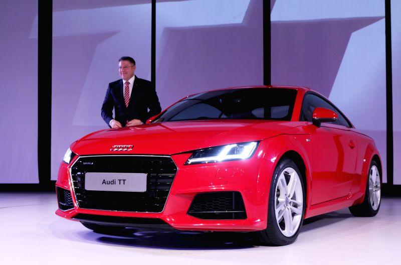Audi India Head, Joe King during the launch of new third generation Audi TT in New Delhi, on April 23, 2015.
