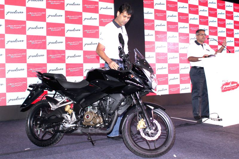 Bajaj Auto Managing Director Rajiv Bajaj at the launch of the new Pulsar Range in New Delhi, on April 14, 2015.