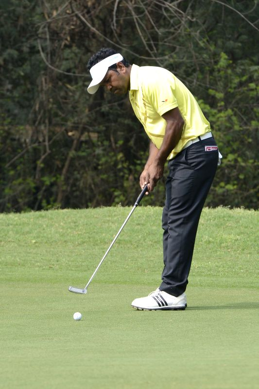 Bangladeshi golfer Siddikur Rahman during $1.5 million Indian Open at Delhi Golf Club (DGC) in New Delhi, on Feb 20, 2015.