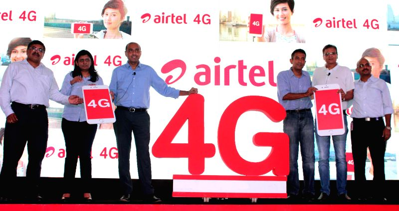 New Delhi: Bharti Airtel launches its fourth generation (4G) communications services in 296 towns across India, in Gurgaon, on Aug 6, 2015. (Photo: IANS)