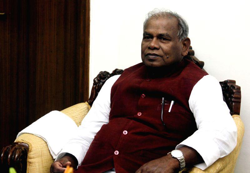 Bihar Chief Minister Jitan Ram Manjhi at Bihar Niwas in New Delhi on Feb. 16, 2015.