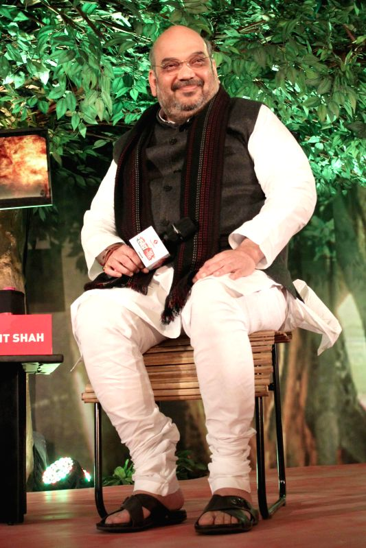 BJP Chief Amit Shah during a programme organised by Aaj Tak in New Delhi, on Dec 12, 2014. ​
