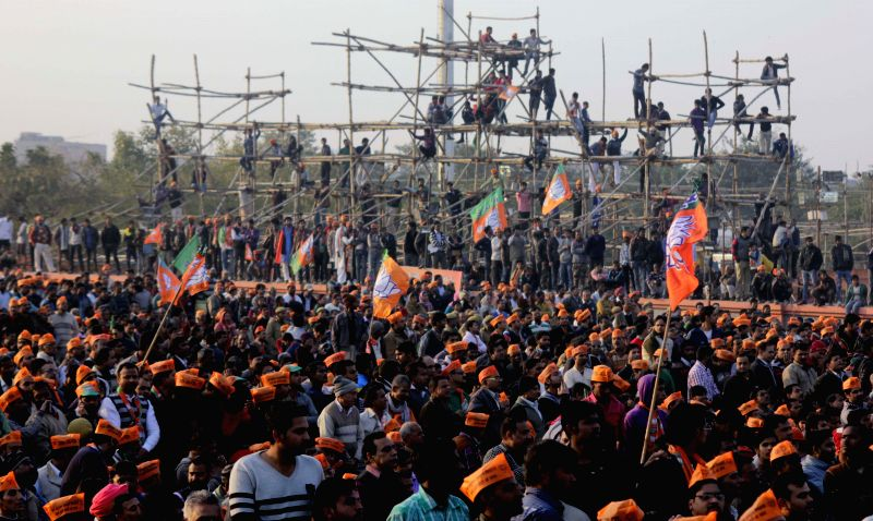 BJP election rally in New Delhi on Jan. 31, 2015.