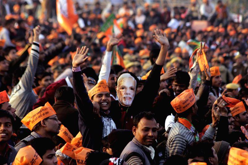 BJP election rally in New Delhi on Jan. 31, 2015.