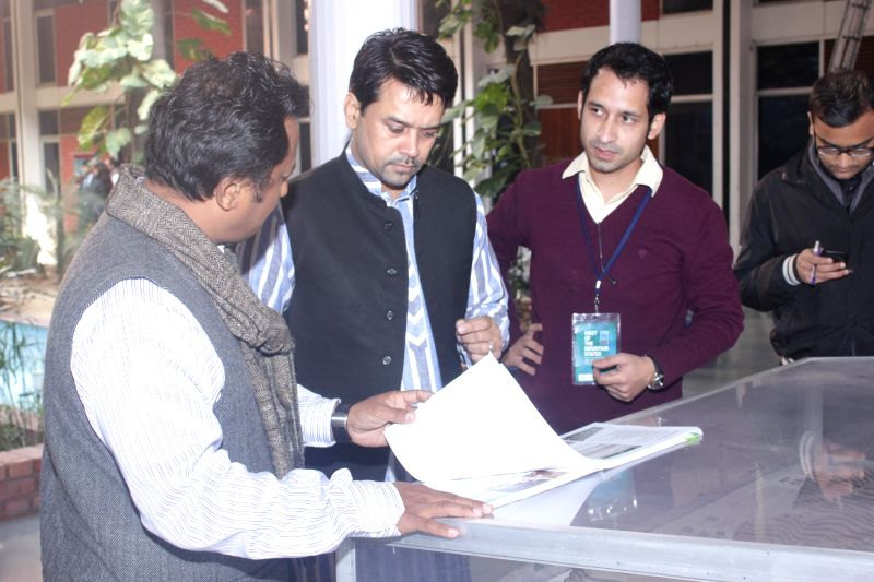BJP MP Anurag Thakur during  ''Meet of Mountain States'' organised at Vishwa Yuvak Kendra in New Delhi, on Dec 11, 2014.