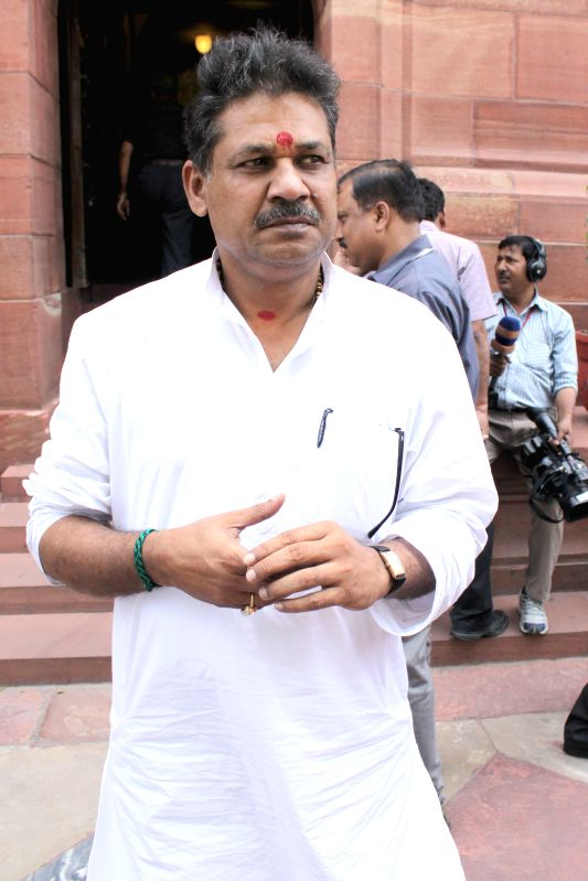 BJP MP Kirti Azad at the Parliament house in New Delhi, on April 27, 2015.