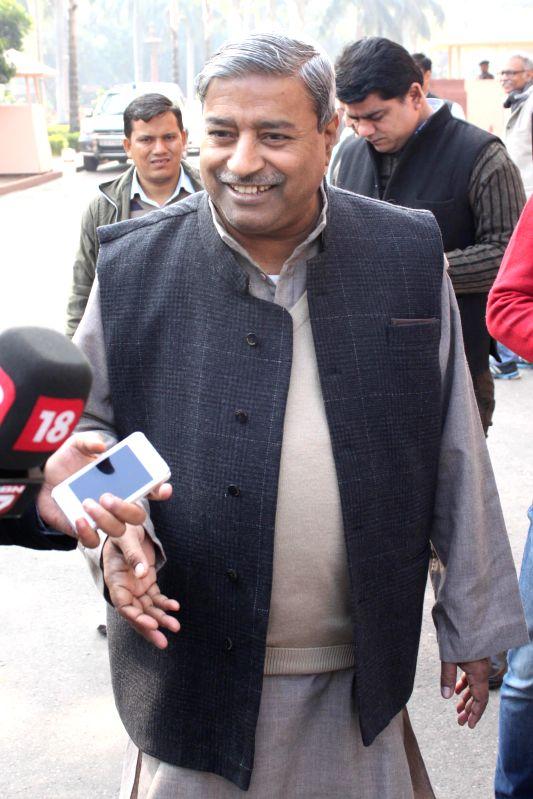 BJP MP Vinay Katiyar at the Parliament premises in New Delhi, on Dec 16, 2014.