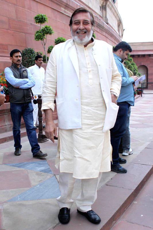 BJP MP Vinod Khanna at the Parliament in New Delhi, on March 4, 2015. - Vinod Khanna