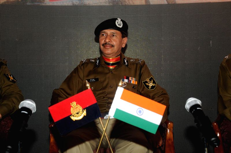BSF Director General D K Pathak addresses a press conference ahead of BSF Raising Day in New Delhi on Nov 26, 2014. - D K Pathak
