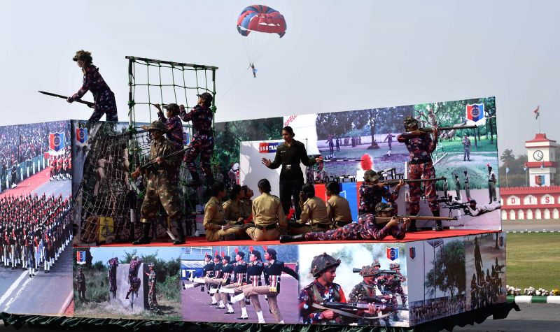 Cadets at the NCC rally in New Delhi on Jan. 28, 2015.