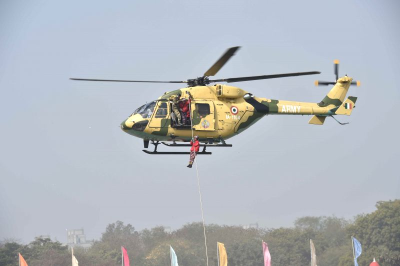 Cadets display their skills at the NCC rally in New Delhi on Jan. 28, 2015.