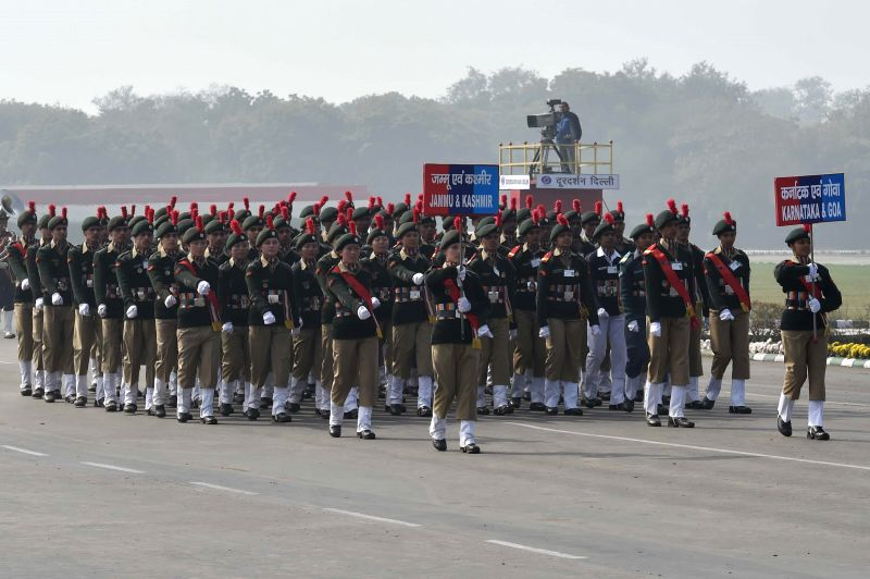 Cadets from the states at the NCC rally in New Delhi on Jan. 28, 2015.