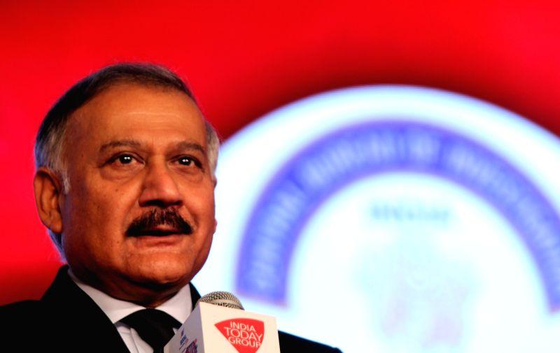 :New Delhi: CBI Director Anil Sinha addresses at Agenda 15 organised by Aaj Tak in New Delhi, on Dec 11, 2015. (Photo: IANS). - Sinha