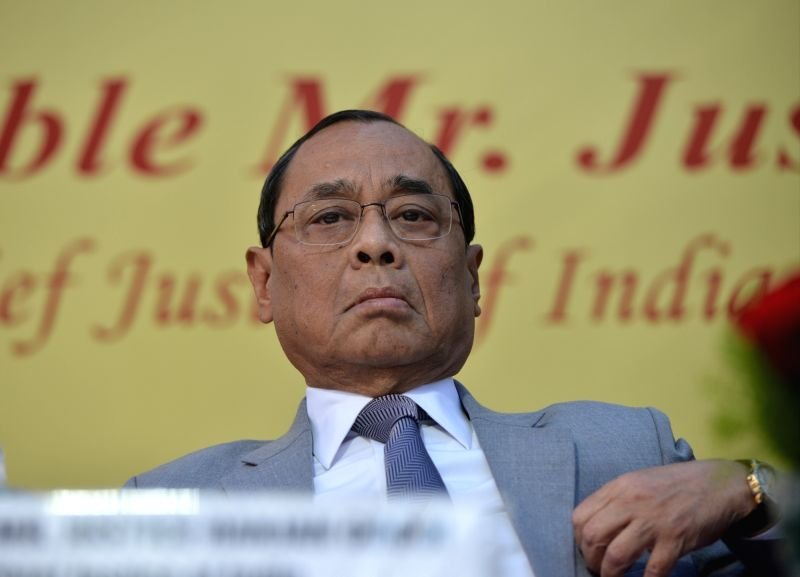 New Delhi: Chief Justice of India Ranjan Gogoi during the farewell ceremony of  Justice A.K. Sikri in New Delhi, on March 6, 2019.
