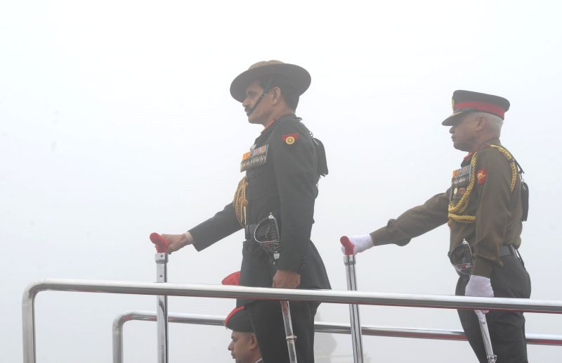 Chief of Army Staff General Dalbir Singh Suhag during Army Day parade in New Delhi on Jan 15, 2015.