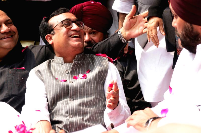 Congress leader Ajay Maken during a programme where he was made party's Delhi unit chief  in New Delhi, on March 8, 2015.