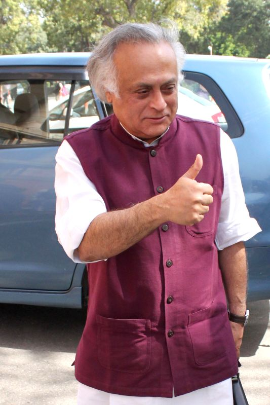 Congress leader Jairam Ramesh at the Parliament in New Delhi, on March 9, 2015.