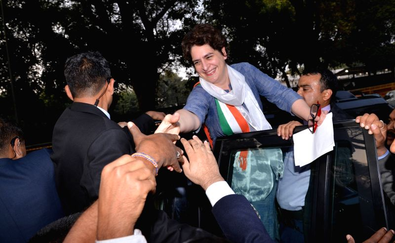 New Delhi: Congress leader Priyanka Gandhi Vadra at party headquarters in New Delhi on Feb 6, 2019.