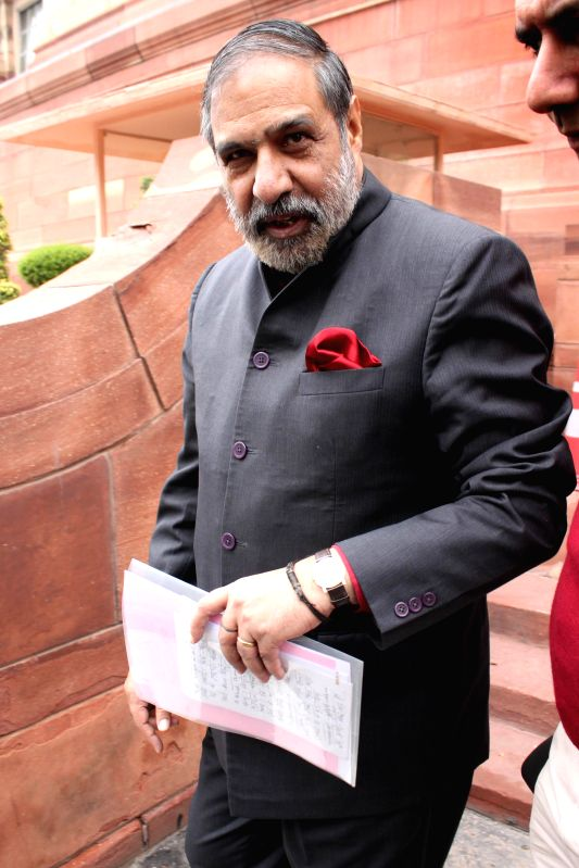 Congress MP Anand Sharma at the Parliament in New Delhi, on March 3, 2015. - Anand Sharma