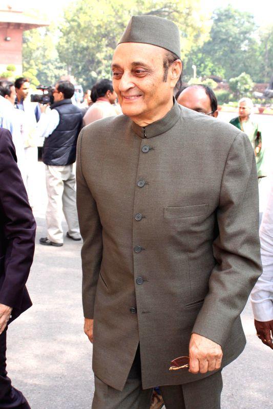 Congress MP Dr Karan Singh at the Parliament in New Delhi, on March 11, 2015. - Karan Singh