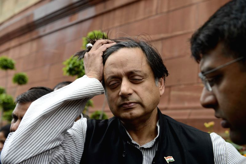 Congress MP from Thiruvananthapuram Shashi Tharoor at the Parliament during the budget session in New Delhi, on March 2, 2015. - Shashi Tharoor
