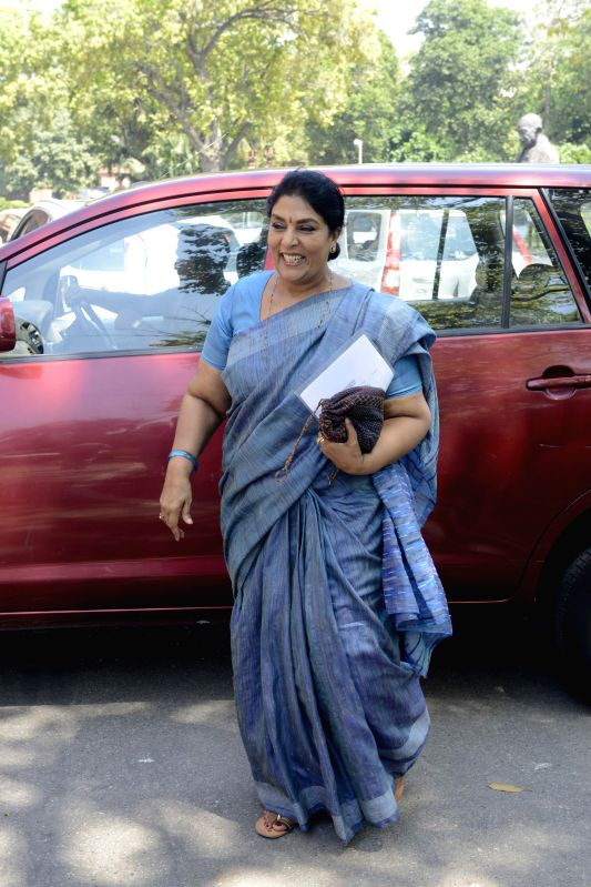 Congress MP Renuka Chowdhury at the Parliament in New Delhi, on March 20, 2015.