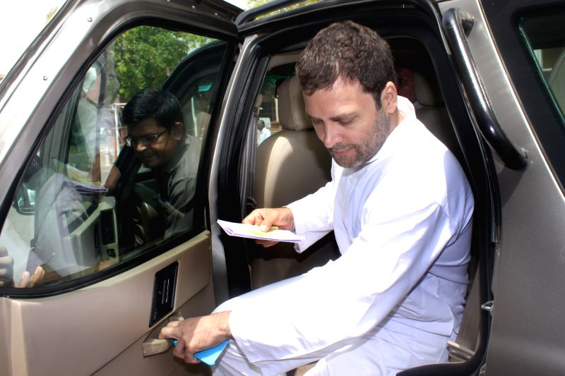 Congress vice president Rahul Gandhi at Parliament House on April.20, 2015. - Rahul Gandhi