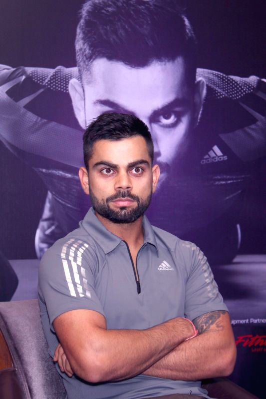 Cricketer Virat Kohli at the launch of a fitness club in New Delhi, on April 25, 2015.