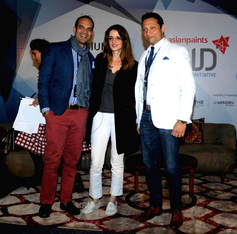 Decor expert Sussanne Khan at India Design ID 2015 in New Delhi, on Feb 14, 2015.