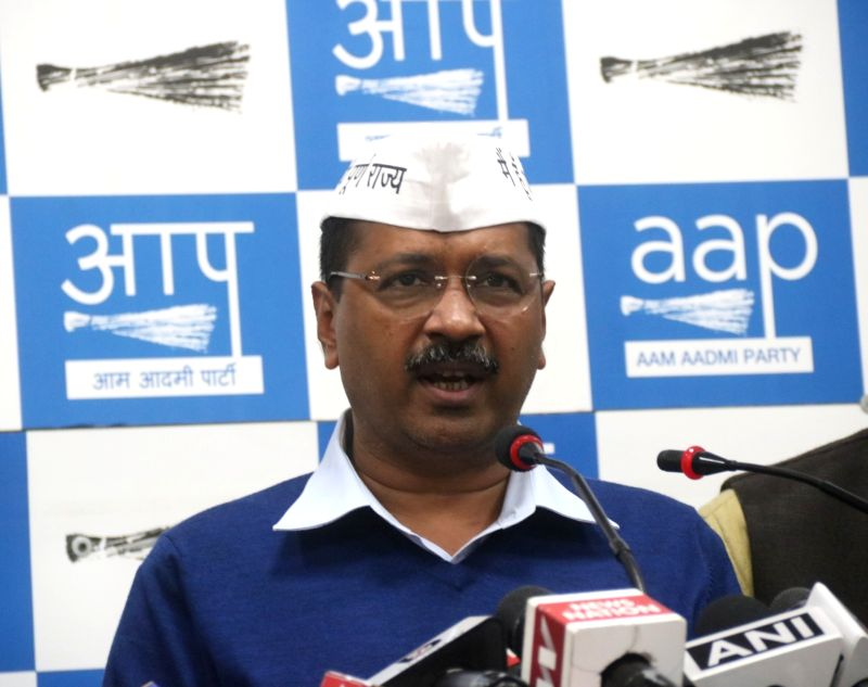 New Delhi: Delhi Chief Minister and Aam Aadmi Party (AAP) chief Arvind Kejriwal addresses a press conference in New Delhi on March 12, 2019. (Photo: IANS)