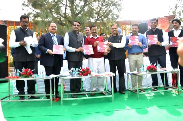 Delhi Chief Minister Arvind Kejriwal at the inauguration of 28th Garden Tourism Festival in New Delhi, on Feb 20, 2015. - Arvind Kejriwal