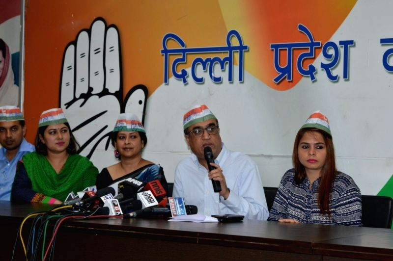 Delhi Congress chief Ajay Maken addresses a press conference in New Delhi on April 8, 2015.