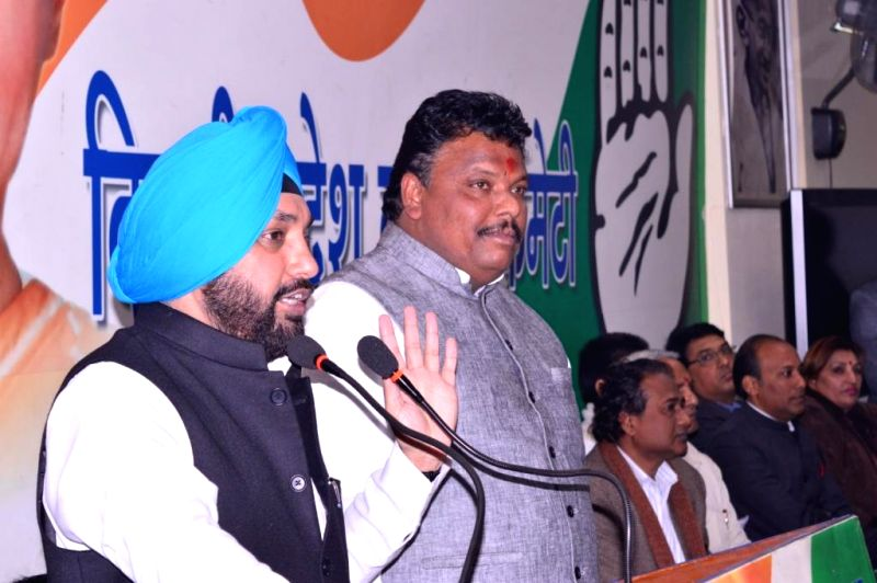 Delhi Congress chief Arvinder Singh Lovely during a party programme in New Delhi on Dec 22, 2014.