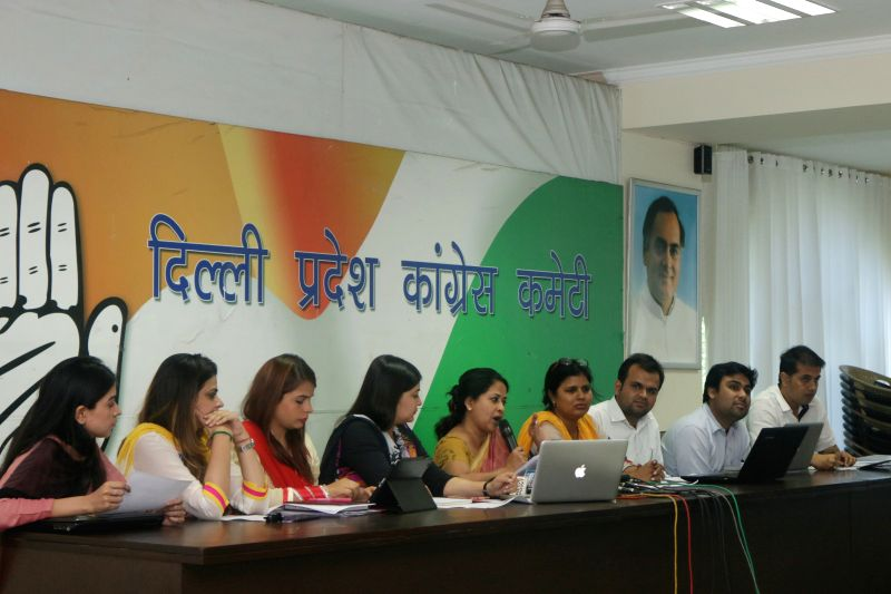 Delhi Congress spokesperson Sharmistha Mukherjee during a press meet in New Delhi on April 10, 2015.