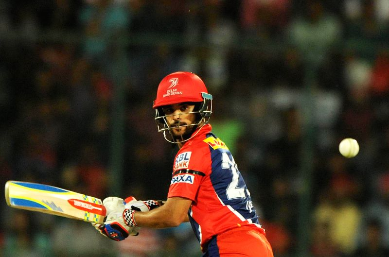 Delhi Daredevils captain JP Duminy in action during an IPL -2015 match between Delhi Daredevils and Royal Challengers Bangalore at Feroz Shah Kotla stadium  in New Delhi, on April 26, ... - J and Feroz Shah Kotla