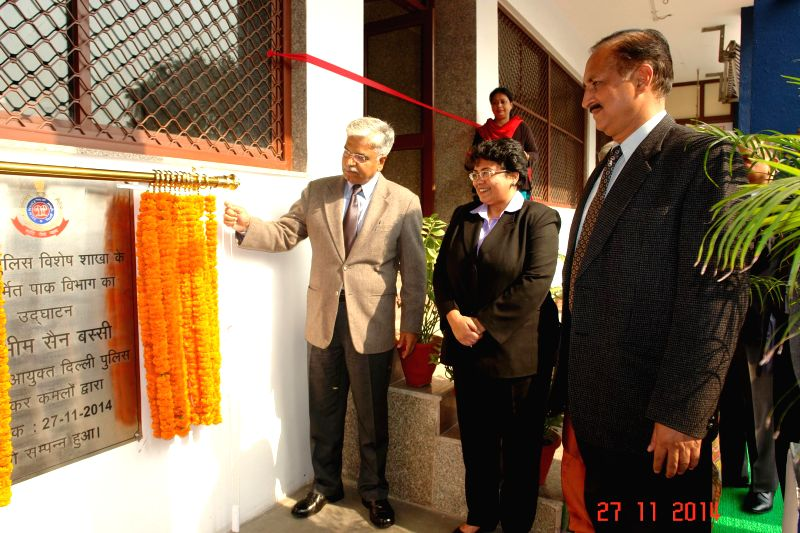 Delhi Police Commissioner B S Bassi inaugurates the renovated the Pak Section of Delhi Police's Special Branch in New Delhi on Nov 27, 2014.